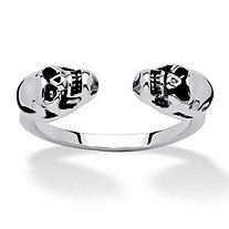 Skull Open Ring in Platinum-Plated