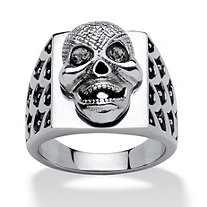 Men's Skull Ring in Stainless Steel