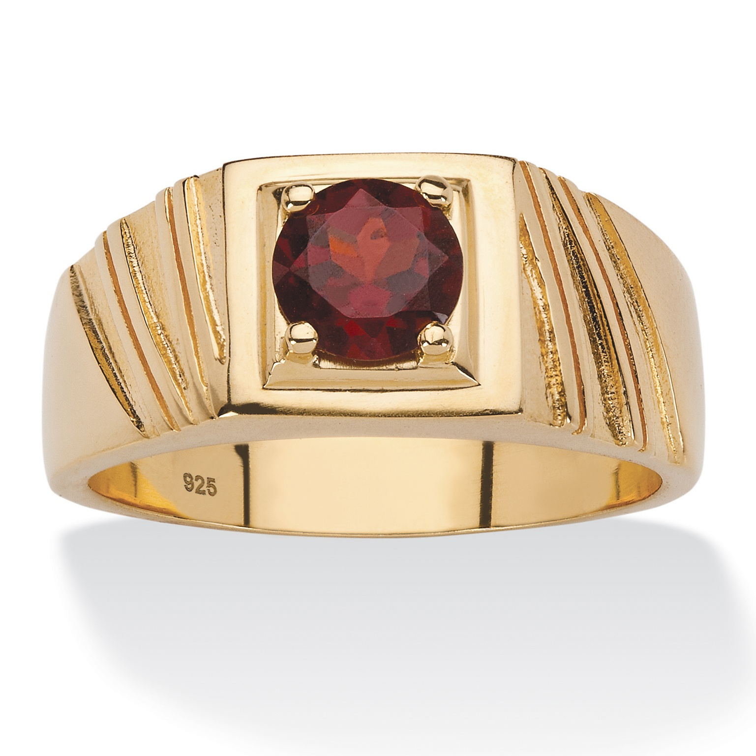 palmbeach jewelry men 39 s tcw red garnet ring in 14k. Black Bedroom Furniture Sets. Home Design Ideas