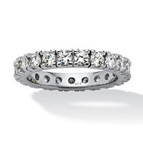 2 TCW Round Cubic Zirconia Eternity Band in Sterling Silver