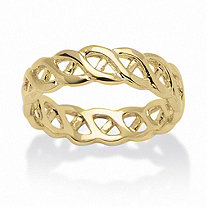 14k Yellow Gold-Plated Braided Band