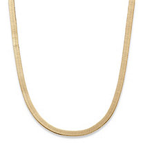 Superflex Herringbone Chain in Yellow Gold Tone 18""