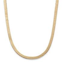 Superflex Herringbone Chain in Yellow Gold Tone 18