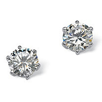 5.00 TCW Round Cubic Zirconia Sterling Silver Stud Earrings