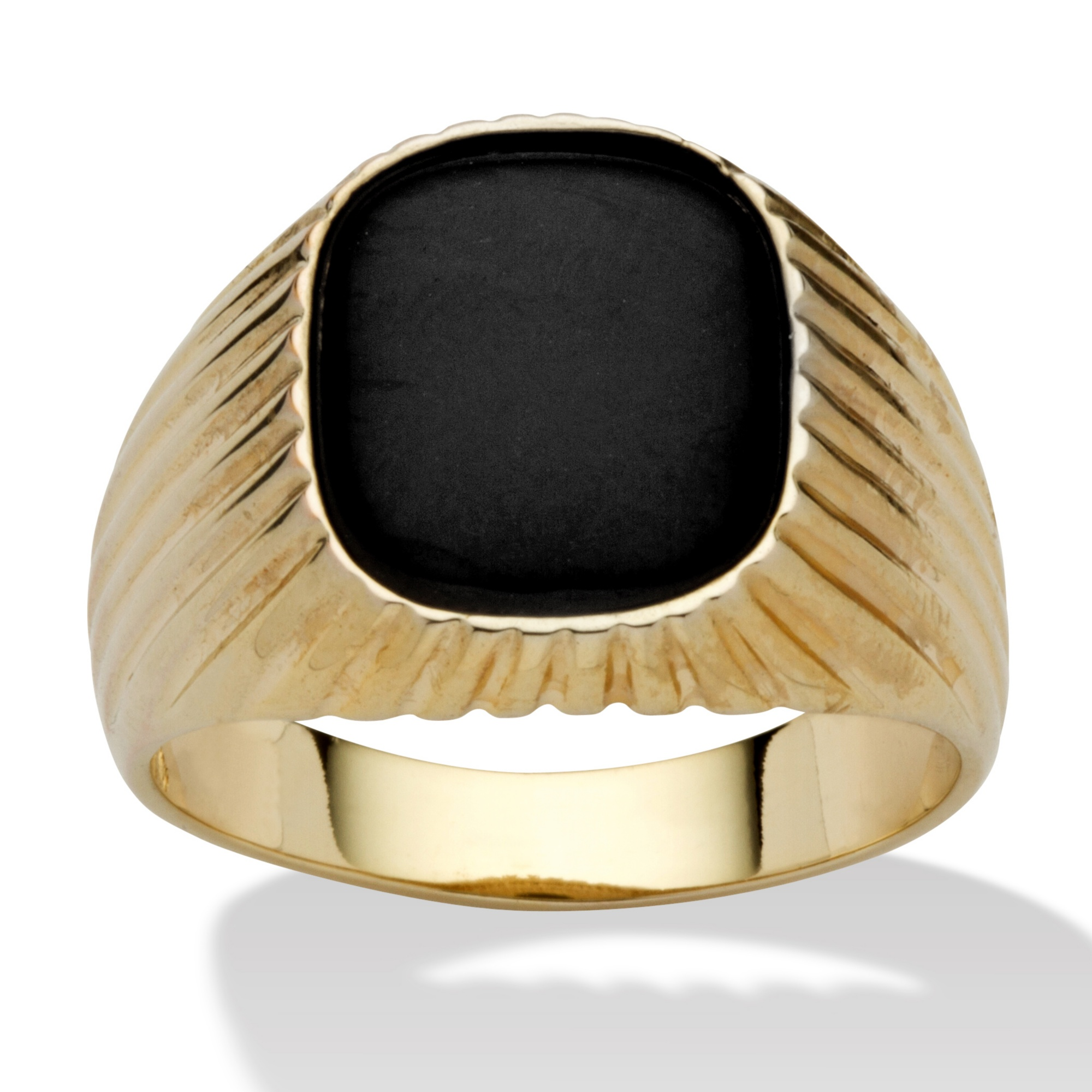 hagan fashion diamond sparkles gold cubic onyx statement cz eagle plated zirconia ring golden carat collections rings men cocktail faux man beloved black