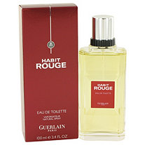 HABIT ROUGE by Guerlain for Men Cologne / Eau De Toilette Spray 3.4 oz