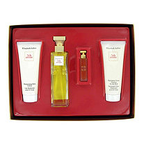 5TH AVENUE by Elizabeth Arden for Women Gift Set -- 2.5 oz Eau De Parfum Spray + 3.3 oz Body Lotion Tube + 3.3 oz Hydrating Cream Cleanser + .12 Parfum
