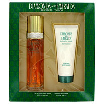 DIAMONDS and EMERALDS by Elizabeth Taylor for Women Gift Set -- 3.3 oz Eau De Toilette Spray + 3.3 oz Body Lotion