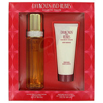 DIAMONDS and RUBIES by Elizabeth Taylor for Women Set : 3.3 oz Eau De Toilette + 3.3 oz Body Lotion