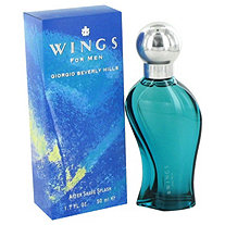 WINGS by Giorgio Beverly Hills for Men After Shave 1.7 oz