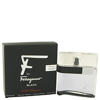 F Black by Salvatore Ferragamo for Men Eau De Toilette Spray 3.4 oz