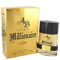 Spirit Millionaire by Lomani for Men Eau De Toilette Spray 3.3 oz