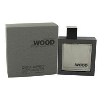 He Wood Silver Wind Wood by Dsquared2 for Men Eau De Toilette Spray 3.4 oz