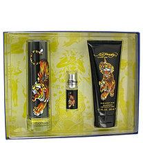 Ed Hardy by Christian Audigier for Men Gift Set -- 3.4 oz Eau De Toilette Spray + 6.7 oz Shower Gel + .25 oz Mini EDT Spray