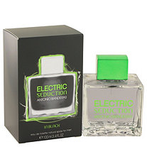 Electric Seduction in Black by Antonio Banderas for Men Eau De Toilette Spray 3.4 oz