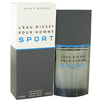 L'eau D'Issey Pour Homme Sport by Issey Miyake for Men Eau De Toilette Spray 3.4 oz