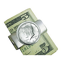 Silvertone JFK Half Dollar Money Clip