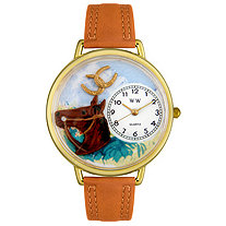 Personalized Horse Head Hand-Crafted Watch in gold or silver case