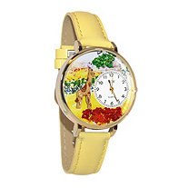 Personalized Giraffe Watch in gold or silver case