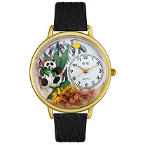 Personalized Panda Bear Watch in gold or silver case