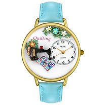 Personalized Quilting Watch in gold or silver case