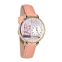 Personalized Beautician Female Watch in gold or silver case
