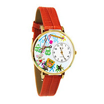 Personalized Preschool Teacher Watch in gold or silver case