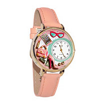 Personalized Shopper Mom Watch in gold or silver case