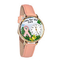 Personalized Time for the Cure Watch in gold or silver case