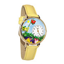 Personalized Butterflies Watch in gold or silver case