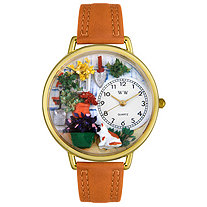 Personalized Gardening Watch in gold or silver case