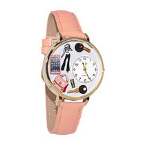Personalized Teen Girl Watch in gold or silver case