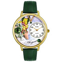 Personalized Birthstone Jewelry: August Birthstone Watch in gold or silver case
