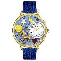 Personalized Capricorn Watch in gold or silver case