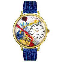 Personalized Crochet Watch in gold or silver case