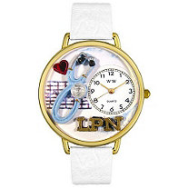Personalized LPN Watch in gold or silver case