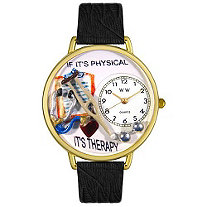 Personalized Physical Therapist Watch in gold or silver case