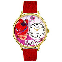Personalized Red Hat Madam Watch in gold or silver case