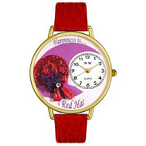 Personalized Red Hat Watch in gold or silver case