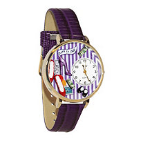 Personalized Shoe Shopper Watch in gold or silver case