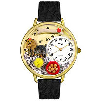 Personalized Yorkie Watch in gold or silver case