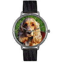 Cocker Spaniel Photo Watch in Silver Unisex