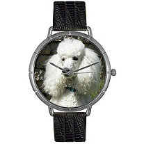 Poodle Photo Watch in Silver Unisex