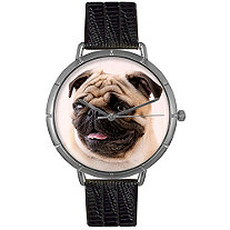 Pug Photo Watch in Silver Unisex