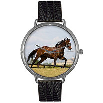 Thoroughbred Horse Photo Watch in Silver Unisex