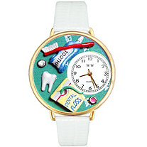 Personalized Nurse Red Watch in Gold (Unisex)