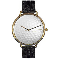 Golf Lover Photo Watch Unisex Gold Style