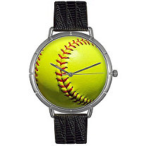 Softball Lover Photo Watch Unisex Silver Style