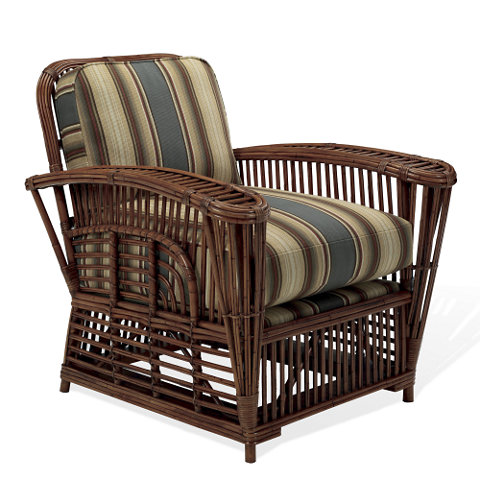 Hudson River Valley Wicker Lounge Chair - Chairs / Ottomans