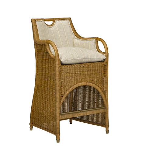 Jamaica Wicker Barstool   Dining Chairs   Furniture   Products   Ralph  Lauren Home   RalphLaurenHome.com